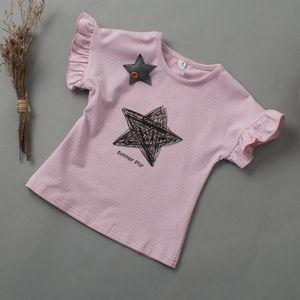 Toddler Girls Short Sleeve Star Pink T Shirt